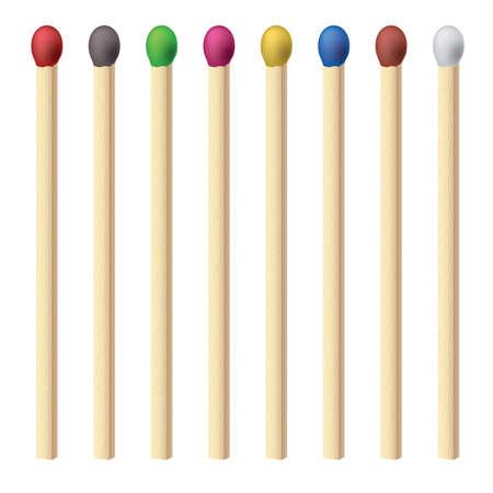caja de cerillas: Corresponde con el juego. Ilustraci�n para el dise�o en fondo blanco