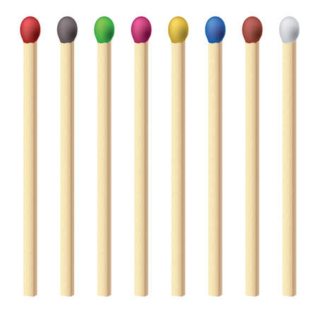 Matches set. Illustration for design on white background Vector