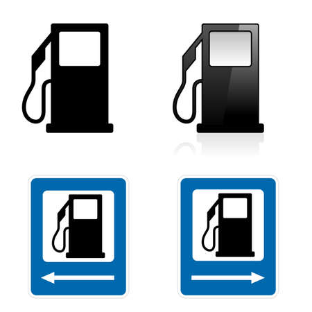 Gas signo Station. Ilustración sobre fondo blanco
