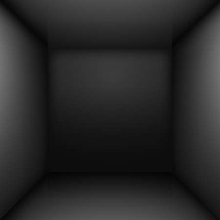 Black simple empty room interior. Illustration for design Vector