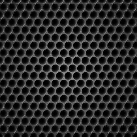 netty: Celular negro fondo del metal. Ilustraci�n para el dise�o Vectores