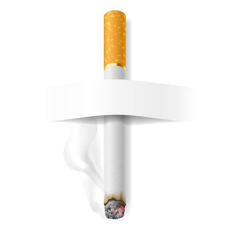 Realistic cigarette. Illustration on white background for design Vector