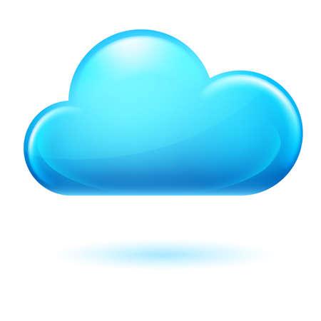 cumulus cloud: Single cumulus Cloud. Illustration on white background