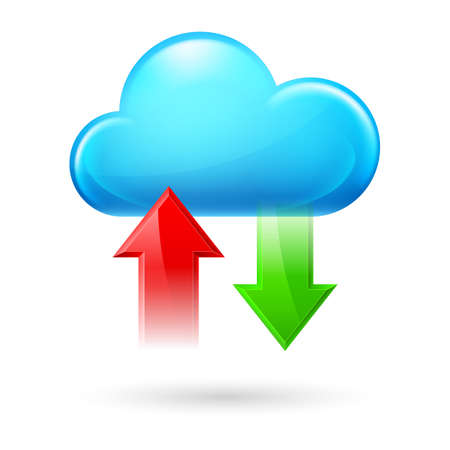 Cloud with Two Arrows. Illustration on white background Vector