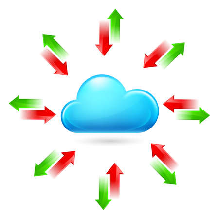 Cloud with Arrows. Illustration on white background Vector