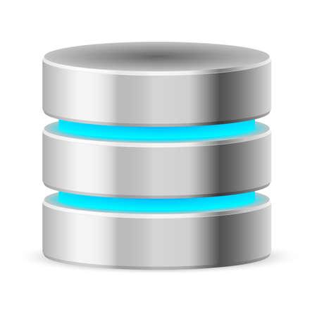 database icon: Data base icon. Illustration on white background