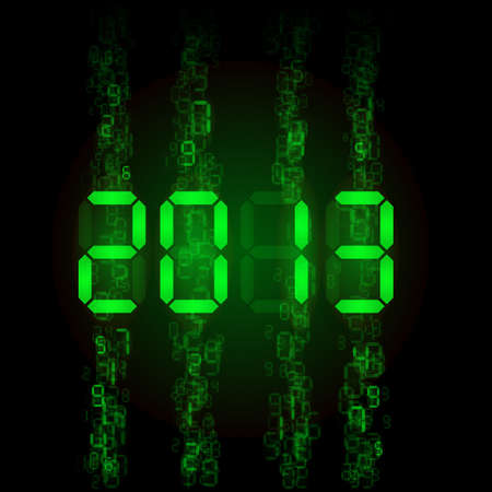 tableau: Set of digital numbers - twenty thirteen. Illustration for design Illustration