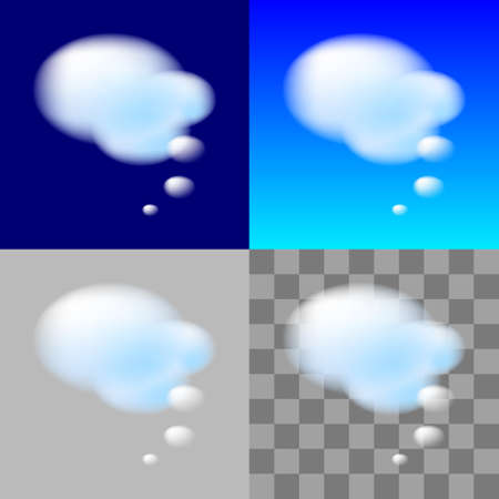Thinking Bubbles. White Cloud. Transparent element for design Vector