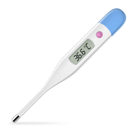 Electronic thermometer. Illustration on white background for design Stock Vector - 16954620