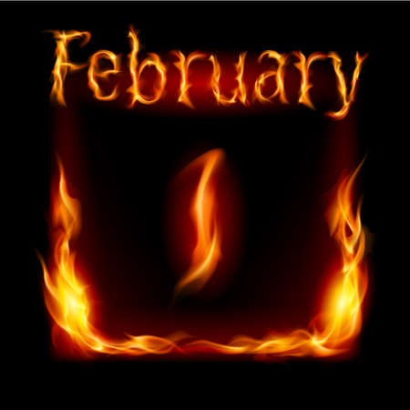 cutoff date: First February in Calendar of Fire. Icon on black background