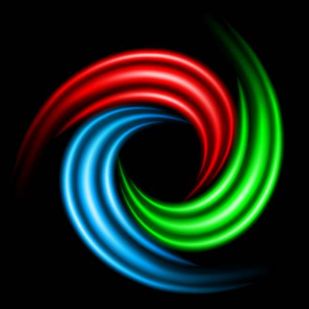 Abstract Swirl Sign. Illustration on black background for design Stock Vector - 16945569