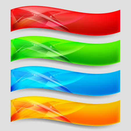 Web Wave Panels Form an Abstract Background. Stock Vector - 16955027
