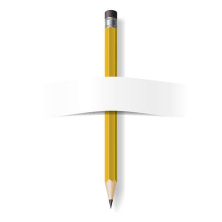 Realistic Pencil. Illustration on white background for design Vector