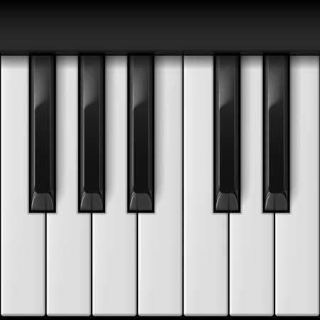 teclado de piano: Teclas del piano. Ejemplo fresco para el diseño creativo