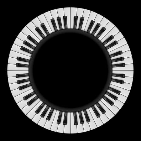 keyboard key: Piano keys. Abstract illustration, for creative design on black Illustration