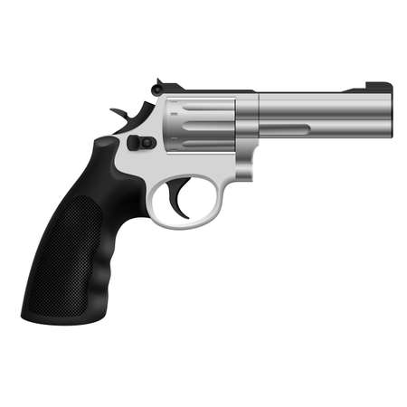 Realistic Revolver. Illustration on white background for design Vector