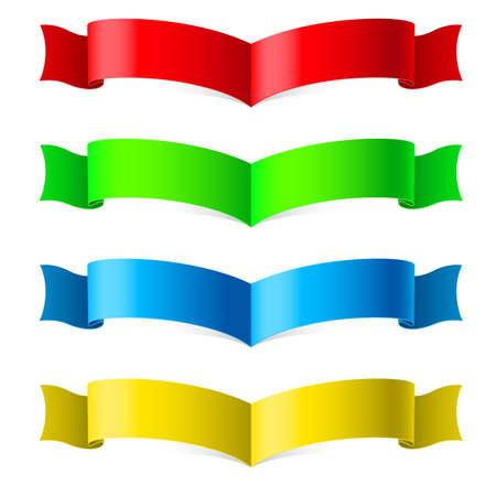 Ribbons Set. Illustration on white for design Stock Vector - 16954572
