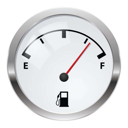 Fuel indicator. Illustration on white background for design Stock Photo