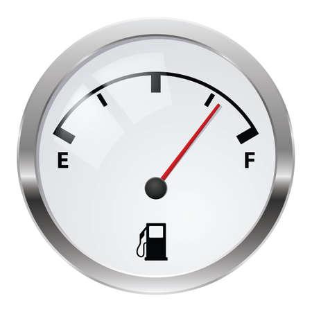 car display: Fuel indicator. Illustration on white background for design Stock Photo