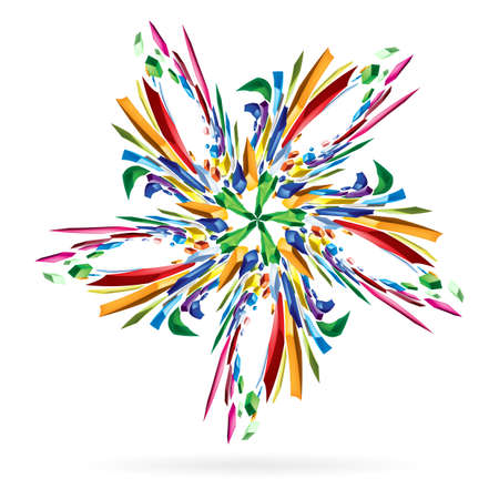 Abstract colourful star. Illustration on white for your design. Stock Vector - 16976799