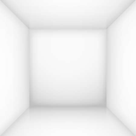 White simple empty room interior, box. Illustration for design Vector