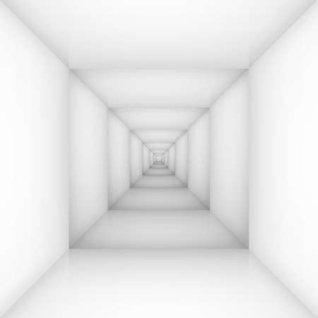 White empty room, box. Illustration for design Vector
