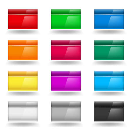 Color set of Computer Windows. Illustration on white Vector