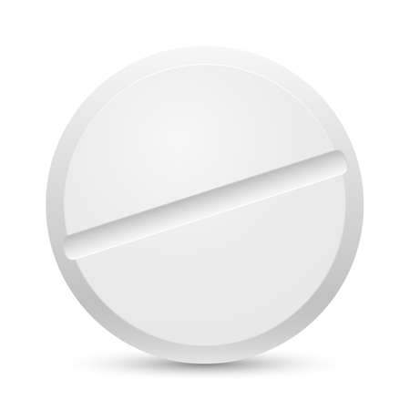 group therapy: The white Close up tablet on a white background Illustration