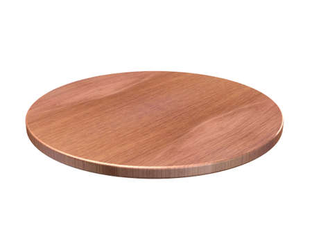 Round cutting board. Illustration on white background