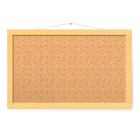 Corkboard. Realistic blank corkboard with corkboard texture Illustration