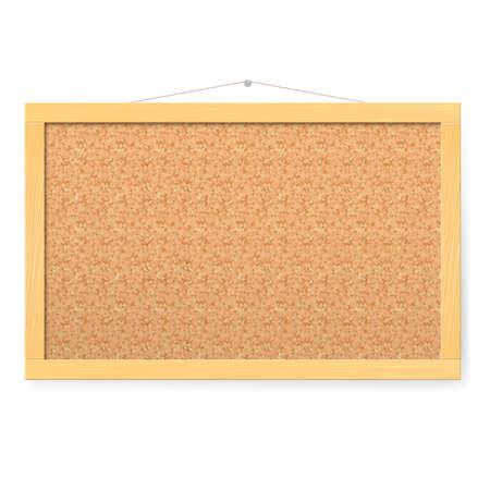 bulletin: Corkboard. Realistic blank corkboard with corkboard texture Illustration