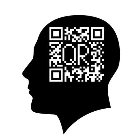 Barcode head. Illustration on white background. Vector