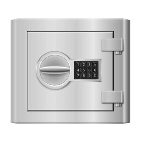 Steel safe. Illustration on white for design Vector