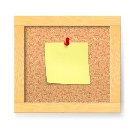 Empty notice wooden board. Illustration on white background Vector