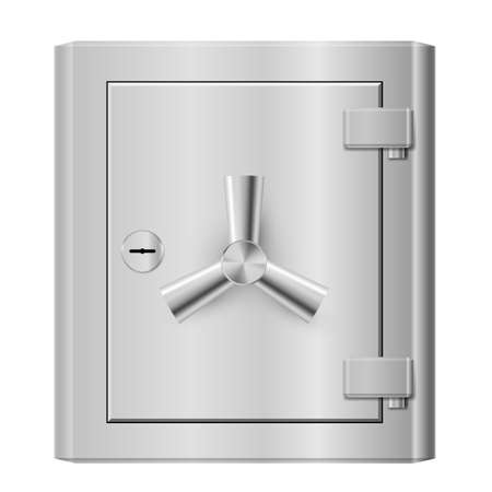 Steel safe. Illustration on white background for design Vector
