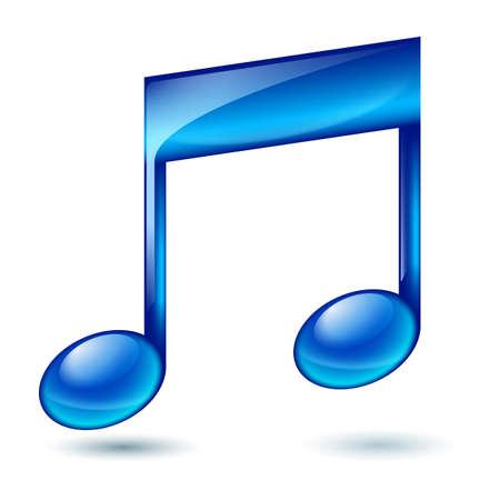 note musicali: Nota musicale. Illustrazione su sfondo bianco per il design