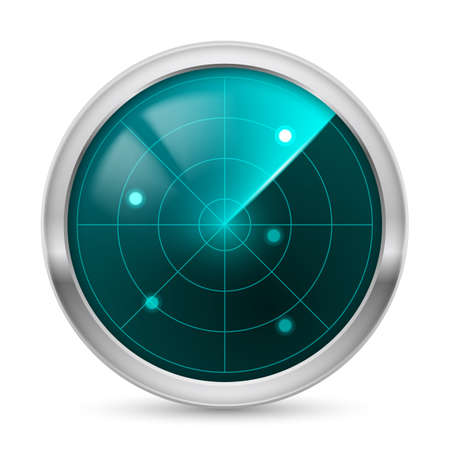 digital indicator: Radar icon. Illustration white background for design Illustration