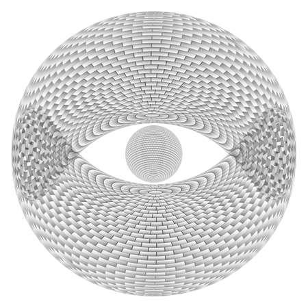 Eye Sphere.  Illustration on white background  for design Stock Vector - 17319193