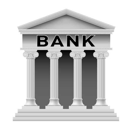 bank safe: Icon of Bank building. Illustration on white background for design Illustration