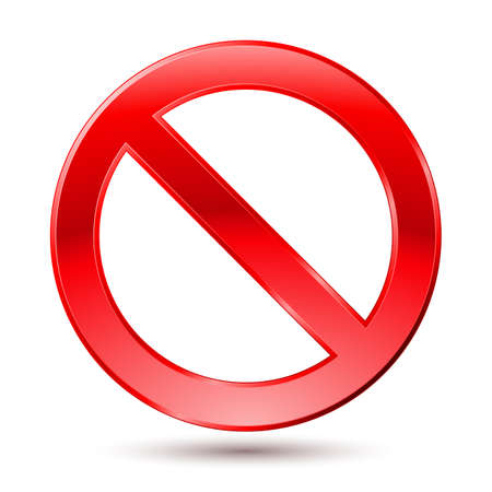 no sign: Empty Ban Sign. Illustration on white background