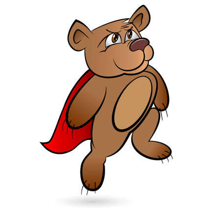 Bear Superhero. Illustration on white background for design Vector