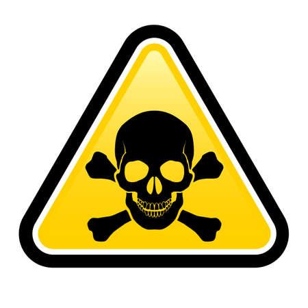 panneaux danger: Signes de danger cr�ne. Illustration sur fond blanc pour la conception