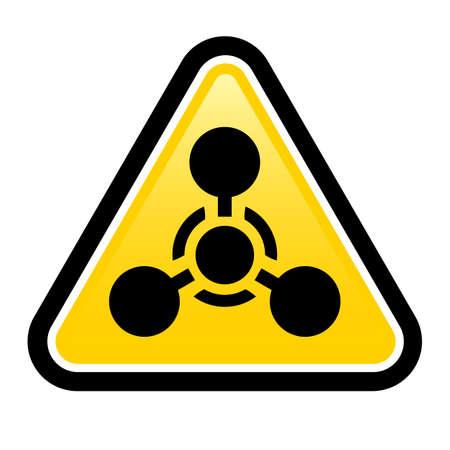 symbole chimique: Arme chimique signe. Illustration sur fond blanc pour la conception
