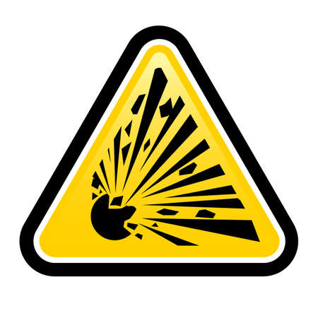 hazard damage: Explosive Hazard Sign.  Illustration on white background for design Illustration