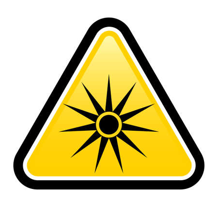 Warning signs warning of laser warning sign. Stock Vector - 17473288