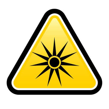 warning triangle: Warning signs warning of laser warning sign. Illustration