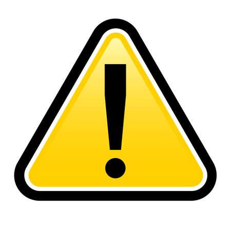 señales preventivas: Peligro señal de advertencia. prestar signo de exclamación. Ilustración sobre fondo blanco para el diseño