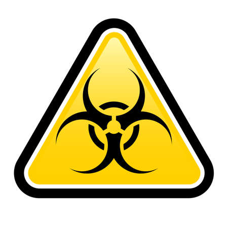 pandemia: Biohazard sign. Illustration on white background for design