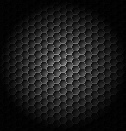 metal grate: Realistic black carbon. Illustration for creative design