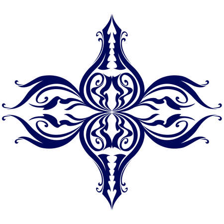 adornment: Classic Decor Element. Illustration on white background